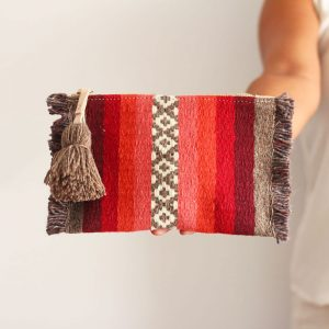 Minde Clutch Bordeaux Coral